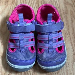 Toddler girl purple and pink Stride Rite Sandals
